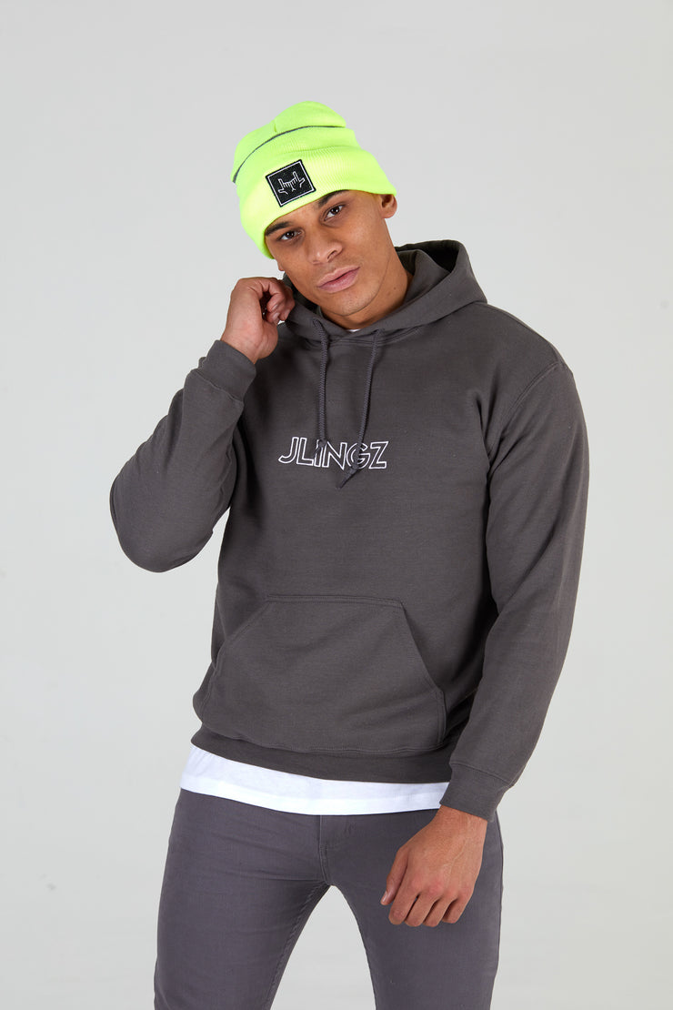Outline Gray Hoodie Unisex