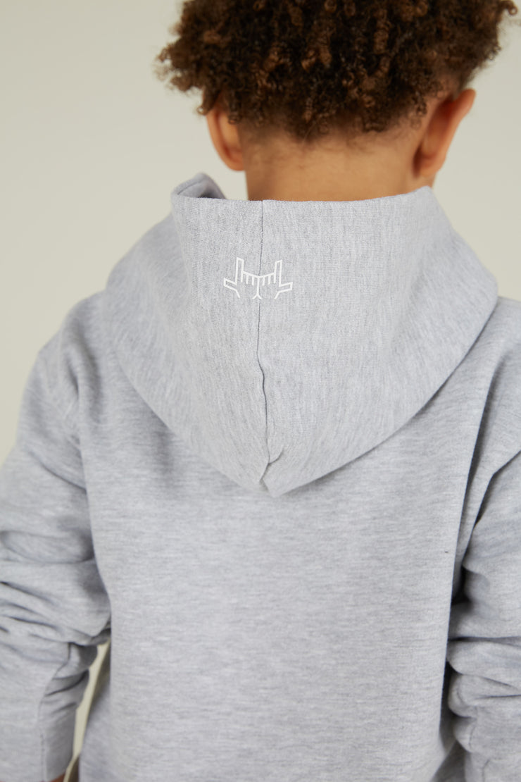 JLINGZ Kids Line Up No:14 Hoodie | Grey