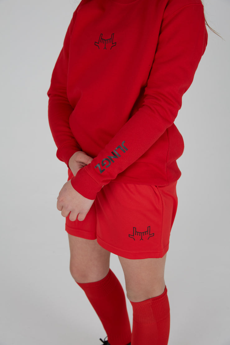 JLINGZ Red Sportsline Kids Sweatshirt