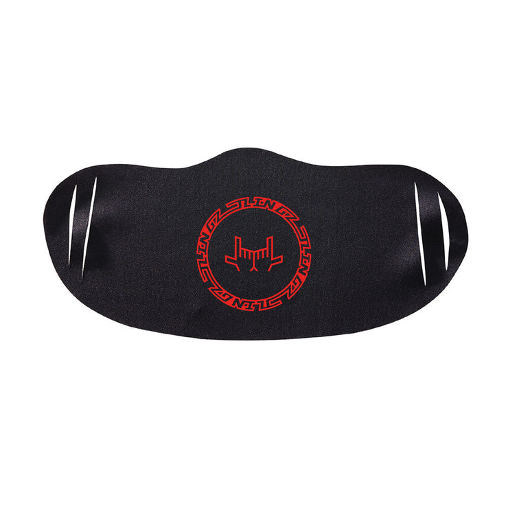 JLINGZ Crest Face Mask - Black/Red