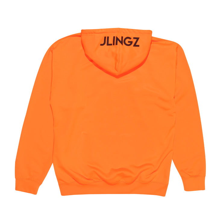 JLINGZ Original Logo Hoodie | Neon Orange