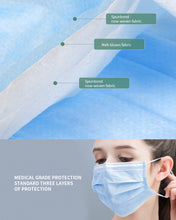 Load image into Gallery viewer, FDA Certified, 3-PLY, Disposable Non-Woven Fabric Face Mask, 50 pcs (Medical Workers, Friends & Family)