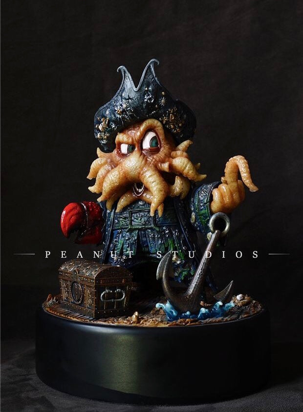 (Backorder) Peanut Studios Davy Jones Pirate of the Caribbean Octopus