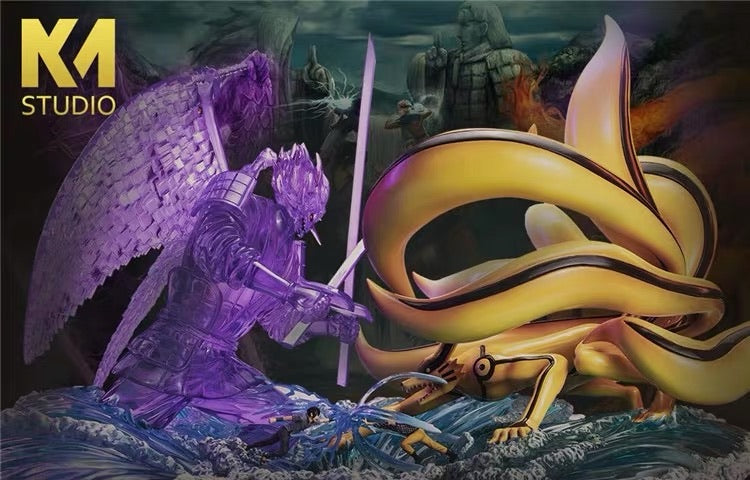 (Preorder) KM Studio Ultimate Battle Sasuke Susanoo Vs Naruto Kurama @ $535 for bank payment