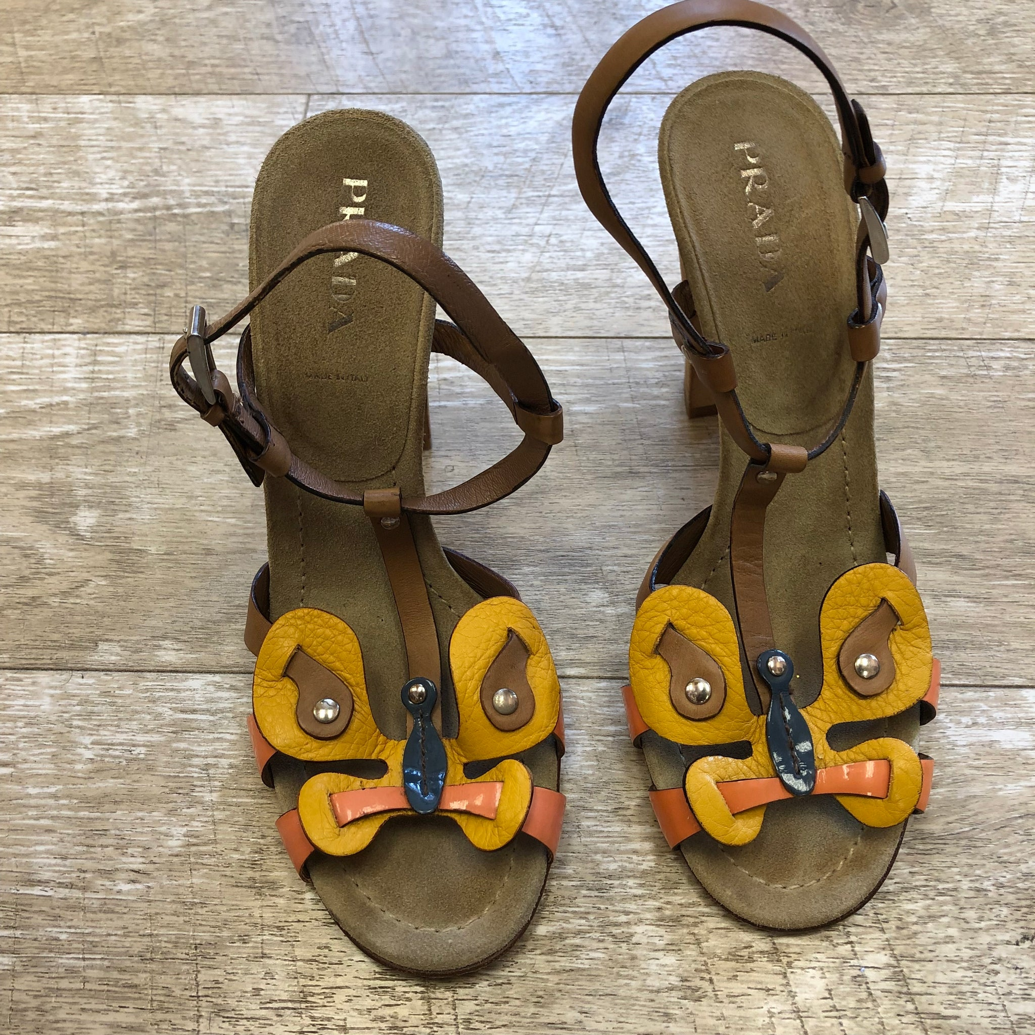 Prada Butterfly Sandals Size 37.5