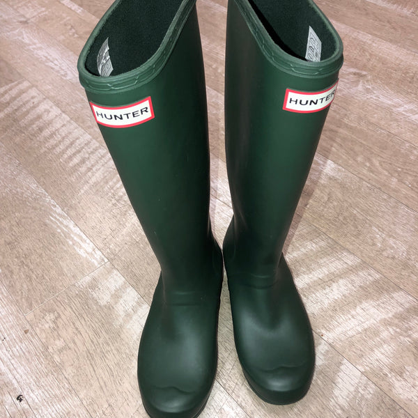 Forestgreen Hunter Rainboots Size 6