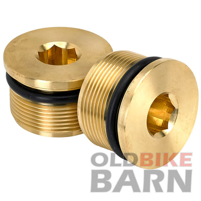 39mm Low Profile Fork Caps - Brass