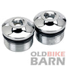Radius Fork Tube Caps - Chrome - 39mm Narrow Glide Front End