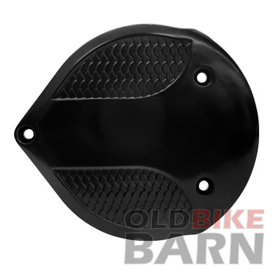 Fish Scale Air Cleaner Cover for S&S Super E/G - Black ED