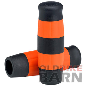 Flying Monkey Grips - Black and Orange Stripes - 1 inch