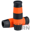 Flying Monkey Grips - Black and Orange Stripes - 7/8 inch