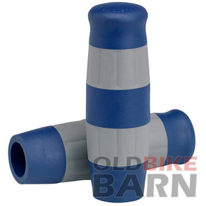 Flying Monkey Grips - Blue and Gray Stripes - 1 inch