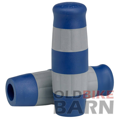 Flying Monkey Grips - Blue and Gray Stripes - 7/8 inch