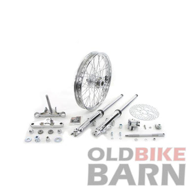 "82-03 39mm Chrome Fork Assembly with 21"" Wheel"