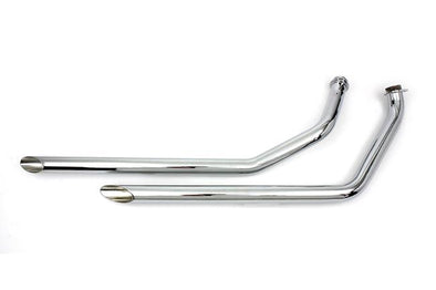 86-03 Exhaust Drag Pipe Set Slash Cut