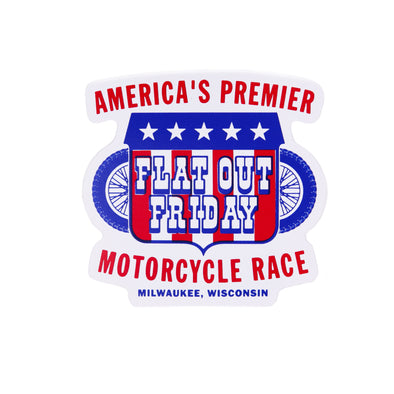 Flat Out Friday Premier Motorcycle Race Sticker