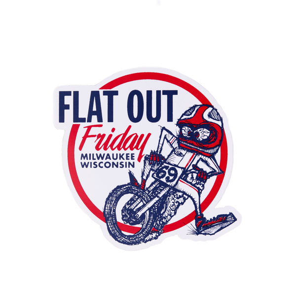 Flat Out Friday Skiddy Sticker