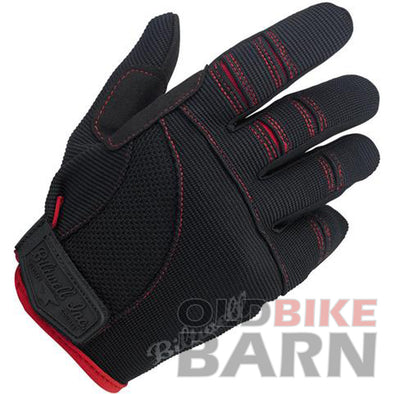 Biltwell Moto Gloves - Black/Red
