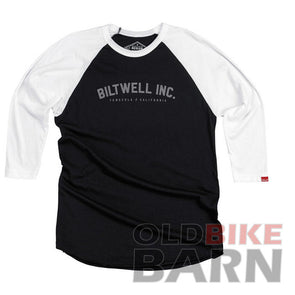Biltwell Basic Raglan Shirt - Black/White
