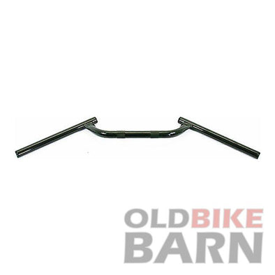 Cafe / Clubman Style Handlebars - 7/8 Inch - Black