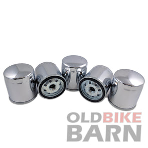 Chrome Harley FL FX FLT XL Oil Filter 5 Pack