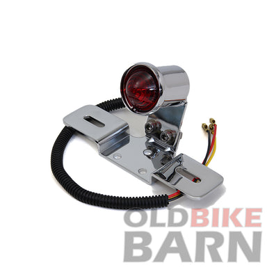 VT Chrome Round Tail Lamp with Bracket