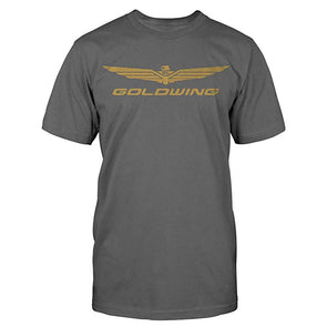 Gold Wing Logo Tee - Charcoal
