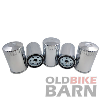 Harley Long Chrome Oil Filter Big Twin/Dyna/XL 5 Pack