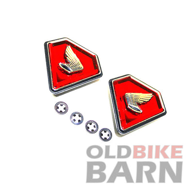 Honda 71-76 CB750K Side Cover Emblem Set