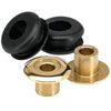 Set of 2 Brass Tophats and Rubber Grommets