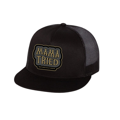Mama Tried Stacked Logo Mesh Hat Black