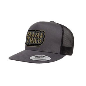 Mama Tried Stacked Logo Mesh Hat Grey