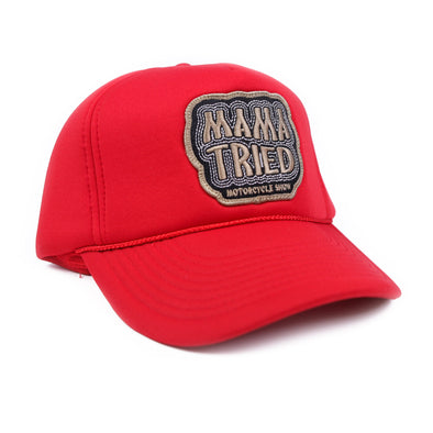 Mama Tried Patch Hat Red