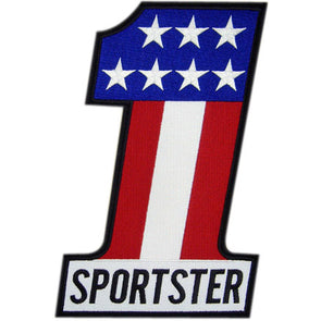 #1 Sportster Motorcycle Back Patch