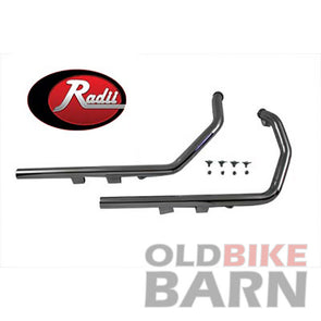 Radii Exhaust Drag Pipe Set Straight Cut Ends - O2 Bung