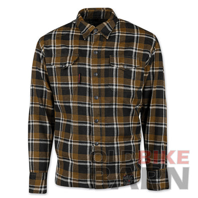 Speed & Strength Reinforced Moto Flannel Brown