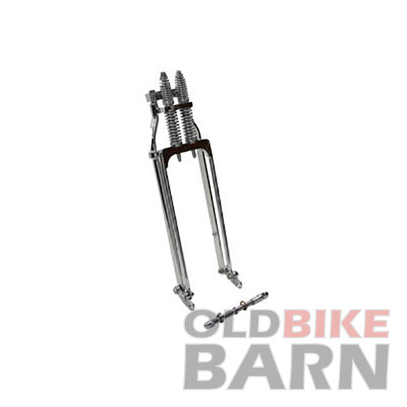 "Wide Spring Fork Assembly Chrome - 34-1/2"" Long"