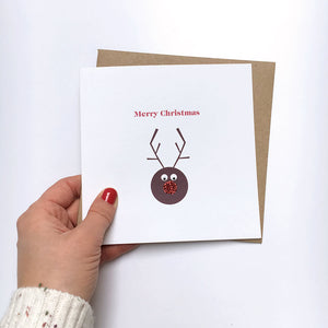 Sparkle Reindeer Christmas card