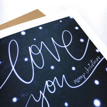Load image into Gallery viewer, Snowy Love You Christmas card