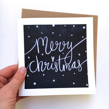 Load image into Gallery viewer, Snowy Merry Christmas card