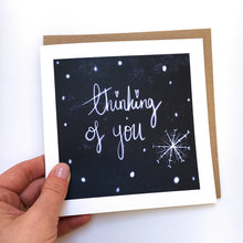 Load image into Gallery viewer, Snowy Thinking of You card