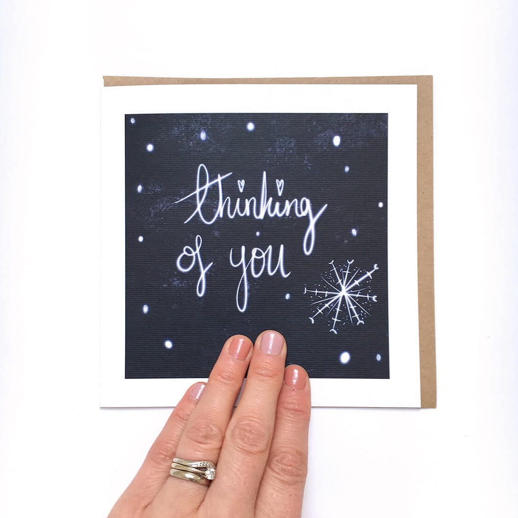 Snowy Thinking of You card