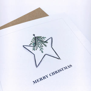 White Christmas Card Pack of x8