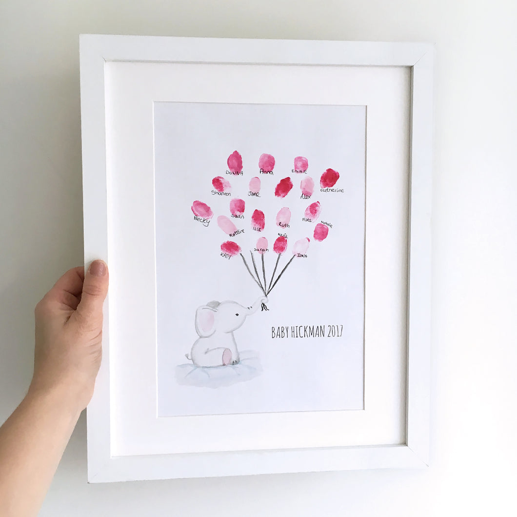 Personalised baby shower print