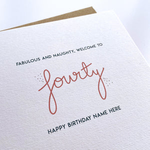 Greeting Card | Personalised 40th Birthday