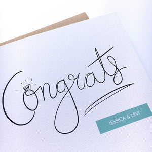 Greeting Card | Personalised Engagement Congrats