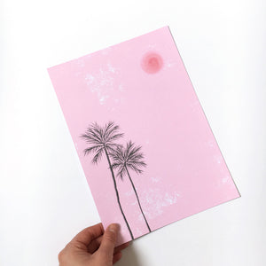 Sample sale - A4 'Endless Summer' art print
