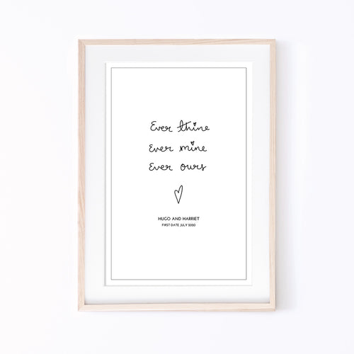 Art Print | Personalised Ever Thine