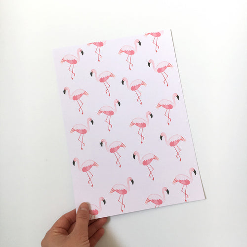 Sample sale - A4 Flamingo 'Mix' art print
