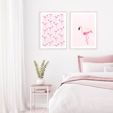 Load image into Gallery viewer, Flamingo art print